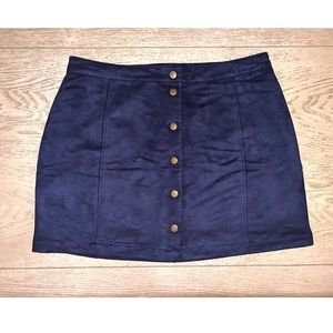 Old Navy Dark Blue Button Up Skirt